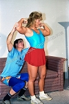 PP012VOD - Four Part Apartment House Wrestling - featuring Joan Wood, Kathy Douglass, Billie Ann and Tom - Video Download